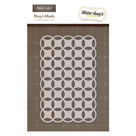 American Crafts - Studio Calico - Mister Huey's Color Mist - Stencils Mask Set - Intertwined Circles