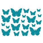 Studio Calico - Memoir Collection - Rub Ons - Butterflies - Teal