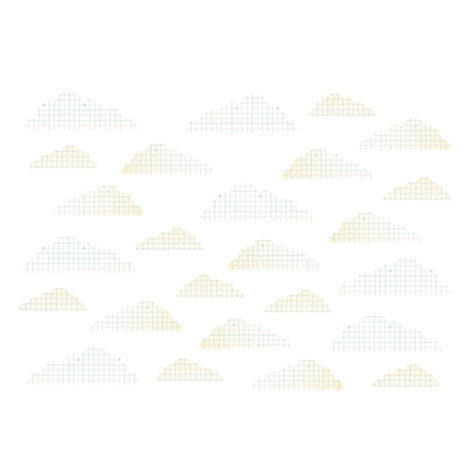 Studio Calico - Autumn Press Collection - Rub Ons - Clouds - White