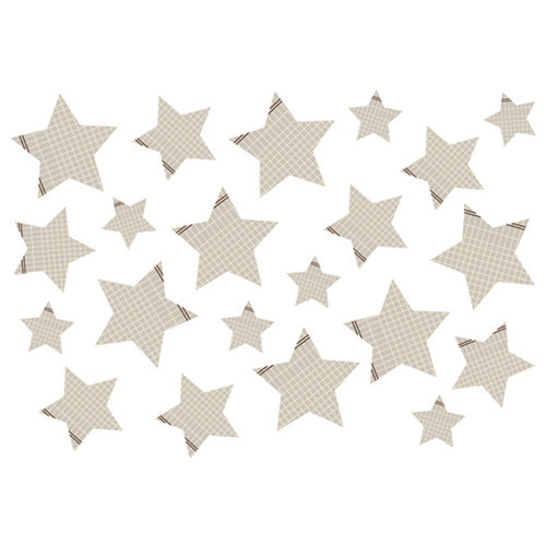 American Crafts - Studio Calico - Classic Calico Collection - Rub Ons - Stars - Gray