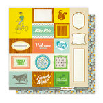 Studio Calico - Home Front Collection - 12 x 12 Double Sided Paper - Odds and Ends, CLEARANCE