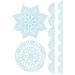 Studio Calico - Anthology Collection - Rub Ons - Doilies - Blue, CLEARANCE
