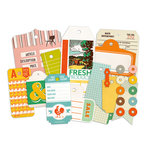 Studio Calico - Countryside Collection - Die Cut Cardstock Pieces - Tags