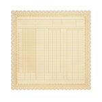 Studio Calico - State Fair Collection - 12 x 12 Die Cut Paper - Cream
