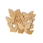 Studio Calico - Countryside Collection - Wood Veneer Pieces - Butterflies, BRAND NEW