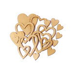 Studio Calico - State Fair Collection - Wood Veneer Pieces - Hearts