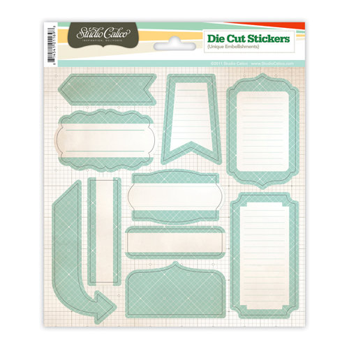 Studio Calico - Countryside Collection - Cardstock Stickers - Labels - Blue