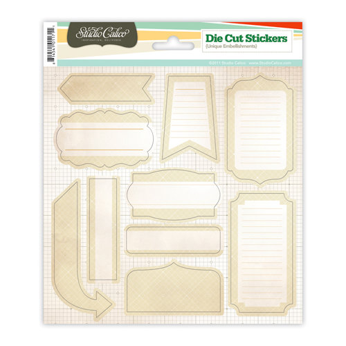 Studio Calico - State Fair Collection - Cardstock Stickers - Labels - Cream