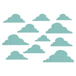 Studio Calico - Countryside Collection - Rub Ons - Clouds - Blue, CLEARANCE