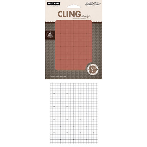 Hero Arts - Studio Calico - Classic Calico Collection - Clings - Repositionable Rubber Stamps - Grid Pattern