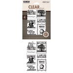 Hero Arts - Studio Calico - Autumn Press Collection - Poly Clear - Clear Acrylic Stamps - I Love Books