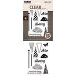 Hero Arts - Studio Calico - Classic Calico Collection - Poly Clear - Clear Acrylic Stamps - Hooray