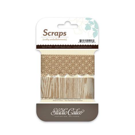 Studio Calico - Classic Calico Collection - Tissue Paper Trim - Scraps