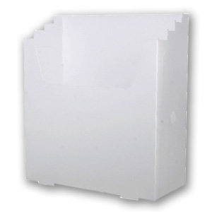 Scrap-eze - Vertical Storage Organizer - Translucent White - Clear
