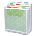 Scrap-eze - Vertical Storage Organizer Kit - Translucent White - Clear