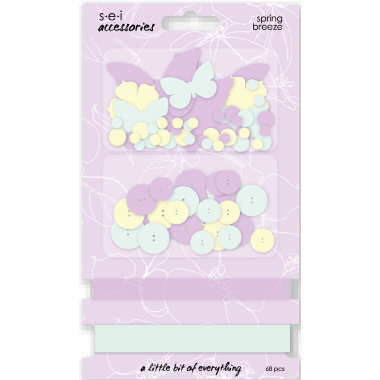 SEI - Couture Collection - Embellishment Accessories Pack - Spring Breeze