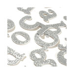 SEI - Metallic Basics - Alphabet Stickers - Glitter - Silver