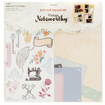 SEI - Noteworthy Collection - Creative Memory Journal - 12 x 12 Pre-Cut Layout Kit