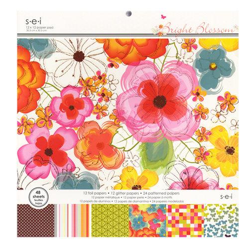 SEI - Bright Blossom Collection - 12 x 12 Paper Pad