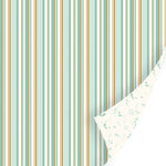 SEI - Sweet Sora Collection - 12 x 12 Double Sided Paper with Foil Accents - Hansom Stripes