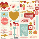 SEI - Sweet Sora Collection - Cardstock Stickers with Glitter Accents