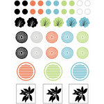 SEI - Black Orchid Collection - Epoxy Stickers, CLEARANCE
