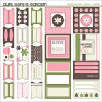 SEI Cardstock Tabs, Frames and Labels - Aunt Gerti's Garden, CLEARANCE