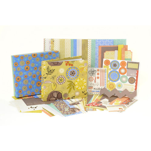 SEI - Desert Springs Collection - Scrapbook in a Box Kit - 8 x 8