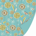 SEI - Dill Blossom Collection - 12x12 Double Sided Textured Paper - Nigella