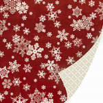 SEI - Alpine Frost Collection - 12x12 Double Sided Textured Glittered Paper - Christmas - Dust of Snow, CLEARANCE