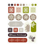 SEI - Alpine Frost Collection - Christmas - Epoxy Stickers, CLEARANCE
