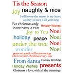 SEI - Glitzmas Collection - Christmas - Rub-On Words, CLEARANCE