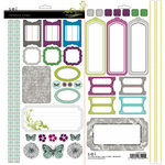 SEI - Bridgeport Collection - Cardstock Stickers with Pearl Accents, CLEARANCE