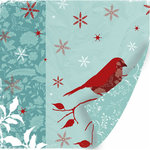 SEI - Winter Song Collection - 12 x 12 Double Sided Flocked Paper - Winter Song