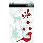 SEI - Winter Song Collection - Decorative Elements - Felt and Glitter, CLEARANCE