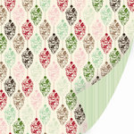 SEI - Christmas Mint Collection - 12 x 12 Double Sided Varnish Paper - Butter Cream , CLEARANCE
