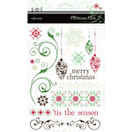 SEI - Christmas Mint Collection - Rub Ons - Words and Elements , CLEARANCE