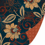 SEI - Moravia Collection - 12 x 12 Double Sided Flocked Paper - Katerina