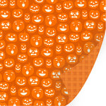 SEI - Spooks Collection - Halloween - 12 x 12 Double Sided Glitter Paper - Bwa-Ha-Ha, CLEARANCE