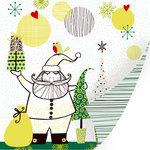 SEI - Kris Kringle Collection - Christmas - 12 x 12 Double Sided Foil Paper - Kris Kringle