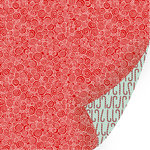 SEI - Kris Kringle Collection - Christmas - 12 x 12 Double Sided Gold Glitter Paper - Peppermint Swirl, CLEARANCE