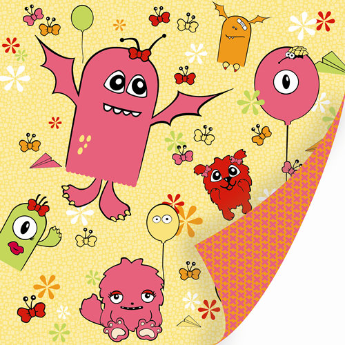 SEI - Monsterville Collection - 12 x 12 Double Sided Glitter Paper - Flying Circus, CLEARANCE