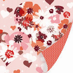 SEI - With All My Heart Collection - Valentine - 12 x 12 Double Sided Pearl Foil Paper - Heart to Heart