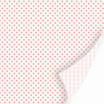 SEI - With All My Heart Collection - Valentine - 12 x 12 Double Sided Pearl Foil Paper - Cross My Heart