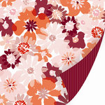 SEI - With All My Heart Collection - Valentine - 12 x 12 Double Sided Pearl Foil Paper - Heart and Soul