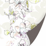 SEI - Couture Collection - 12 x 12 Double Sided Pearl Foil Paper - Charmeuse