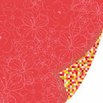SEI - Sunny Day Collection - 12 x 12 Double Sided Pink Foil Paper - Trellis