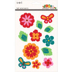 SEI - Sunny Day Collection - Felt Flower Elements with Gem Accents