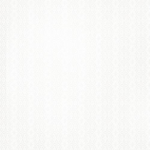 SEI - White Elegance Collection - 12 x 12 Pearl Foil Paper - Diamond