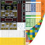 SEI - I'm an Athlete Collection - 12 x 12 Double Sided Perforated Paper - Score